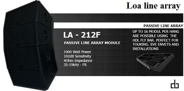 Thông tin về loa array DB LA-212F