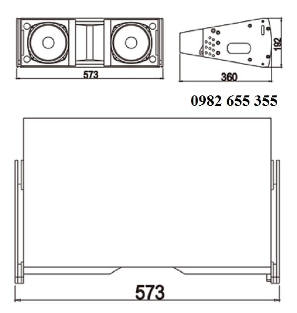 Chi tiết Loa array Admark A-6
