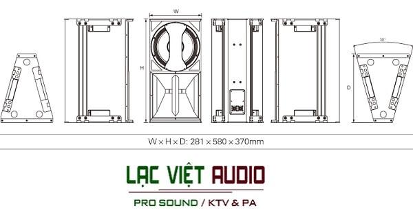 Mô hình thiết kế Loa Audiocenter V-HLA10 MKII