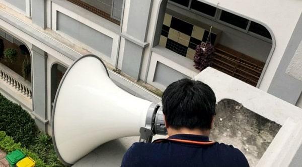 Cấu hình lắp đặt âm thanh trường học thông báo thường sử dụng loa phóng thanh